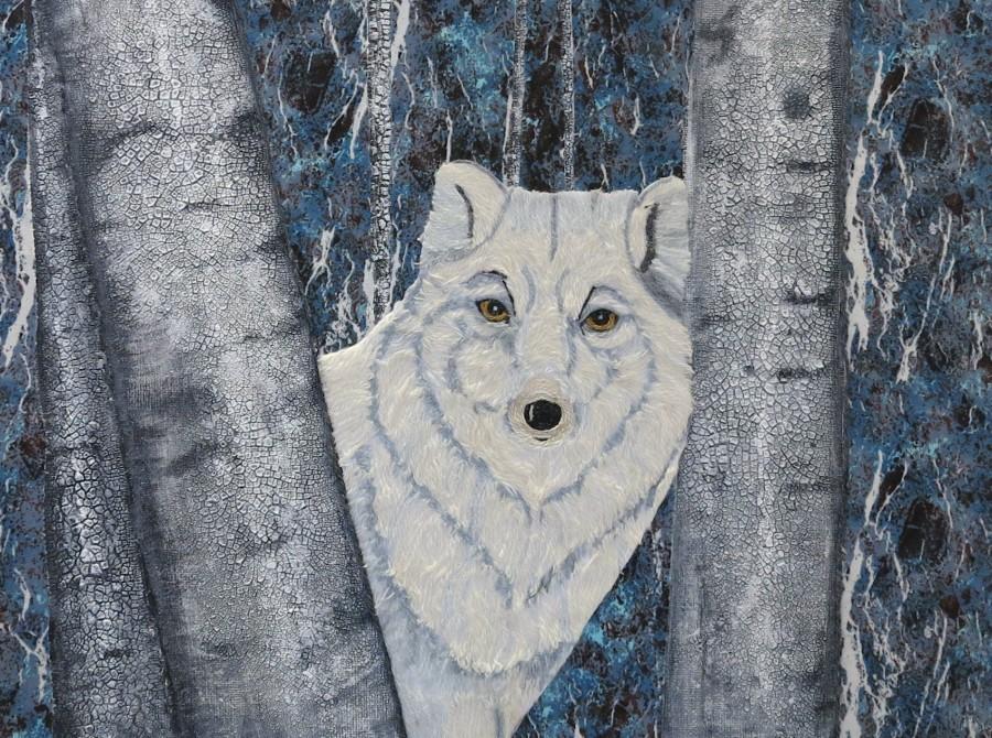 """White Wolf / 12"""" x 16"""" $395"""