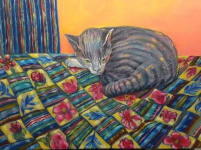 Cat in Repose. 20x24. $550