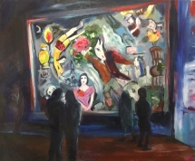 Viewing Chagall at MMA 20x24. $550